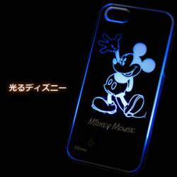 アイフォン5【光るライトケース ミッキー正面タイプ】