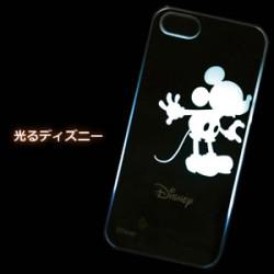 アイフォン5【光るライトケース ミッキーキスタイプ】